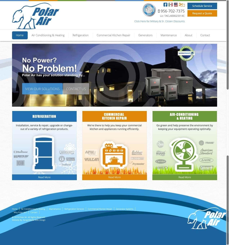 HVAC Web Design