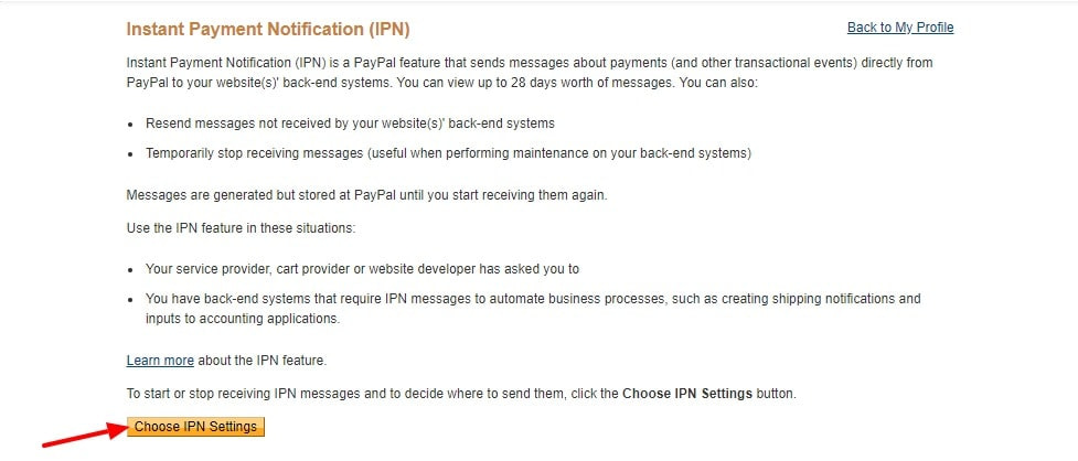 Instant Payment Notification IPN PayPal