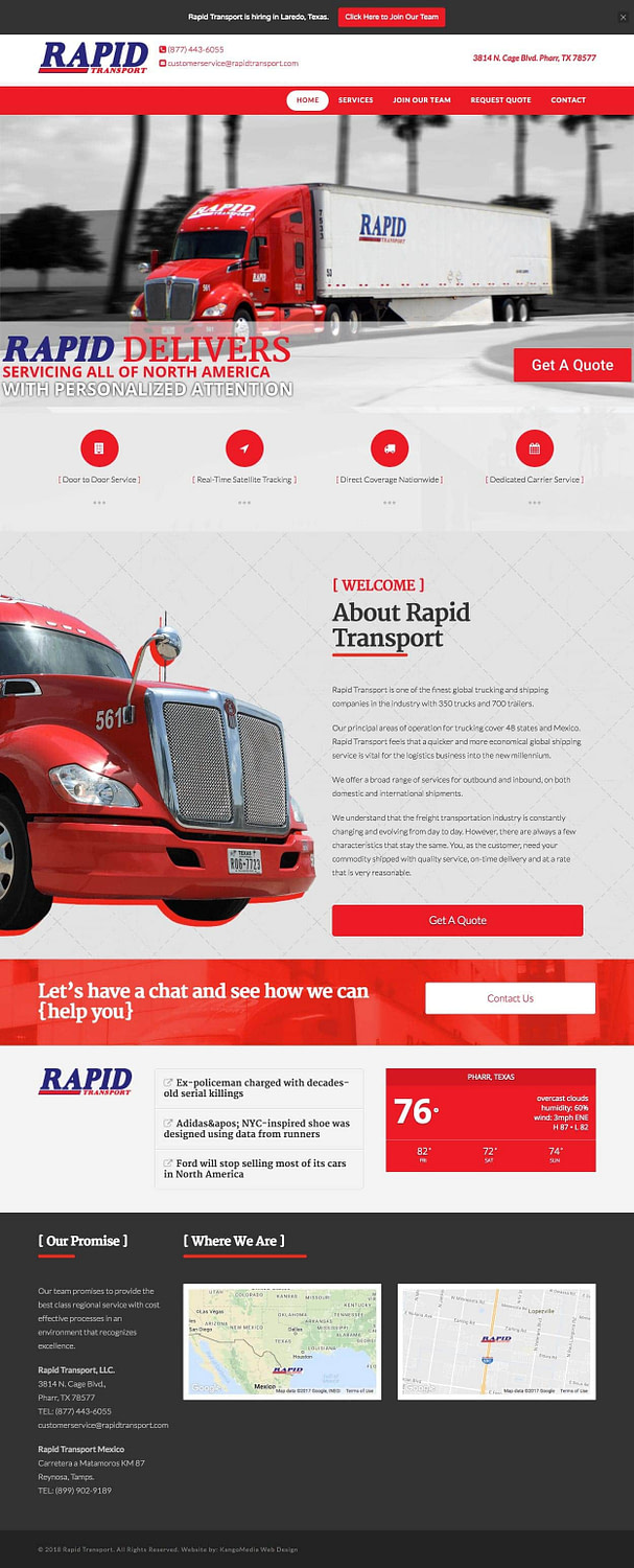 Trucking Company Web Design
