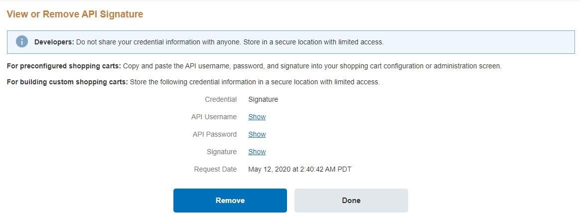 API Access PayPal 1