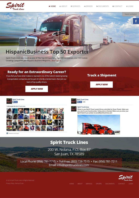 Trucking Company Web Design
