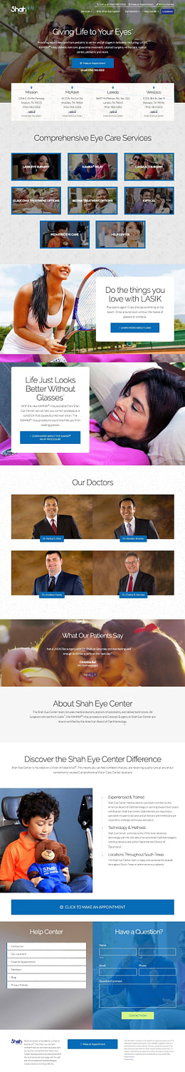 Ophthalmologist Web Design