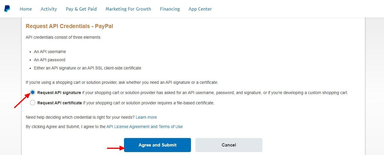 API Access PayPal