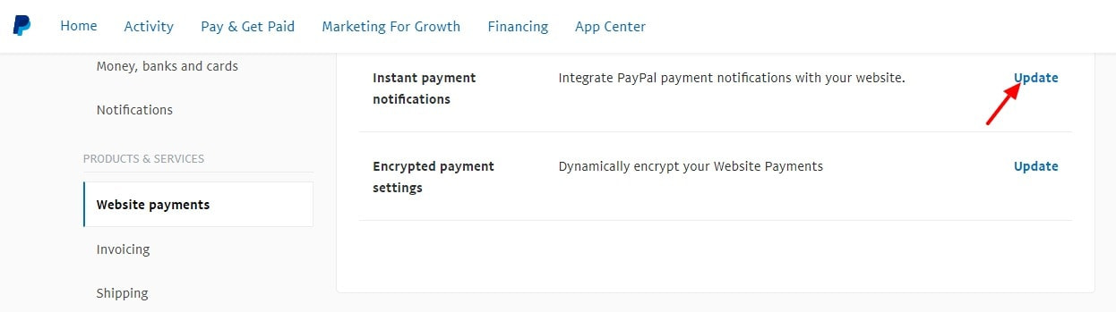 Account Settings PayPal 1 1