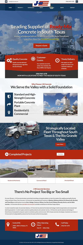 Concrete Company Web Design